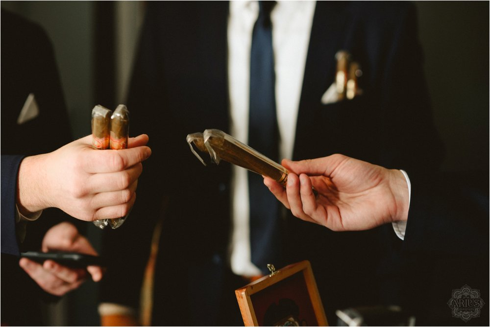 Cigars for the wedding day