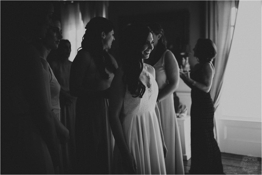 Black and white bride prep