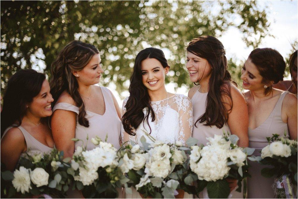 Bridesmaids at Apple Barn in Hudson