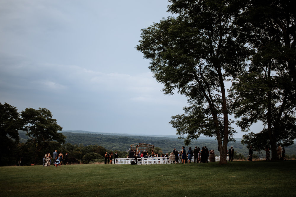 Outdoor ceremony space in new york vineyard