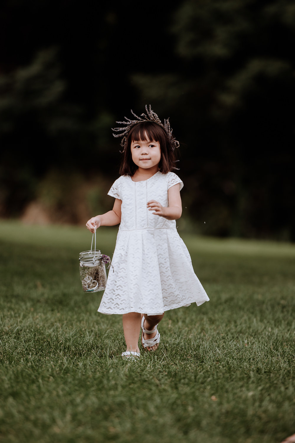 Red Maple Vineyard Wedding flower girl