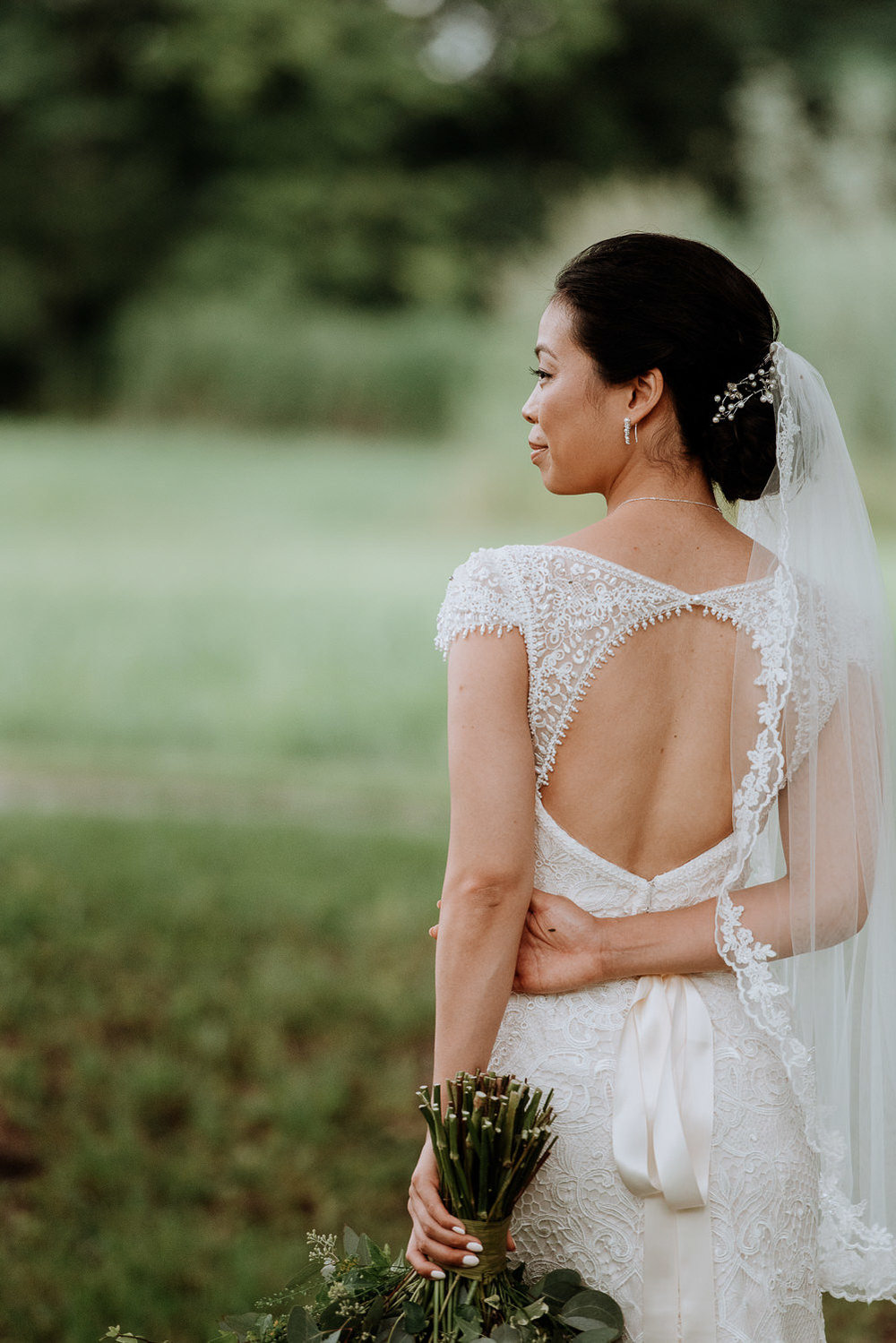 elegant bride at Red Maple Vineyard Wedding