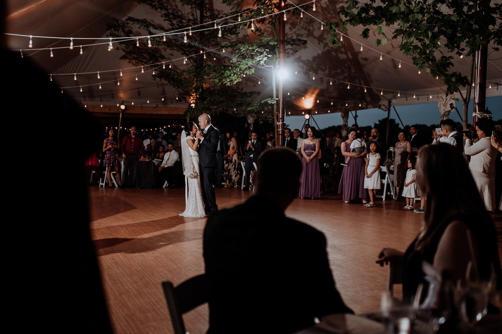 first dance in tent