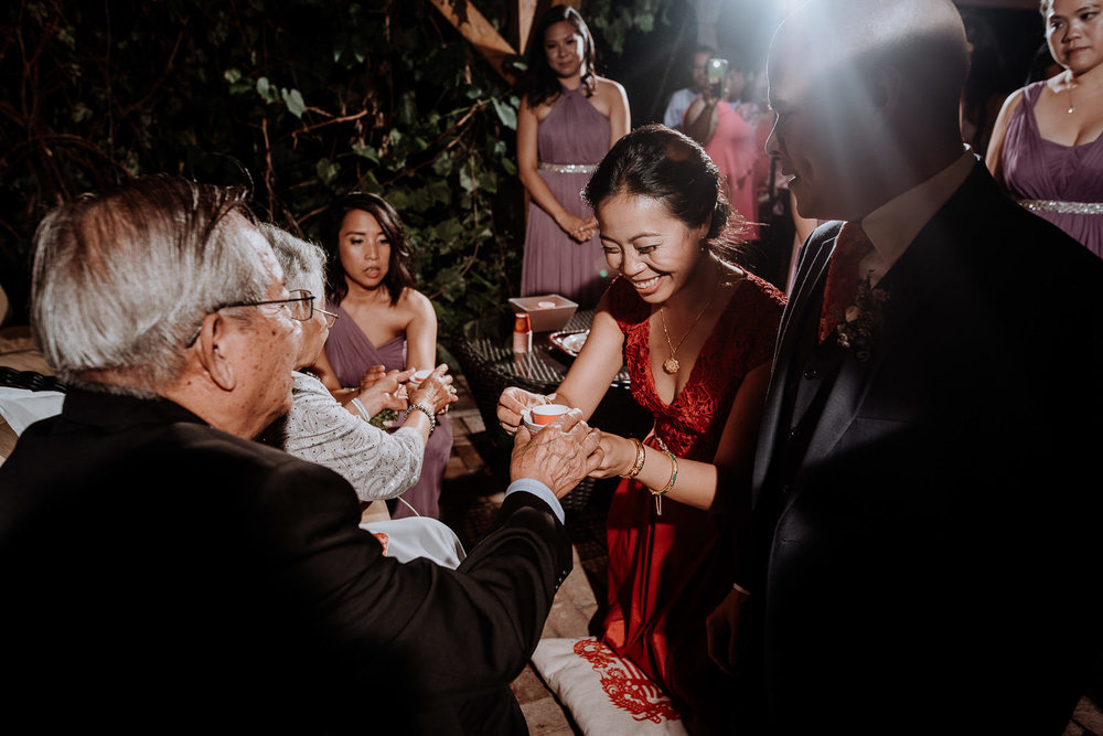 Red Maple Vineyard Wedding japanese tea ceremony