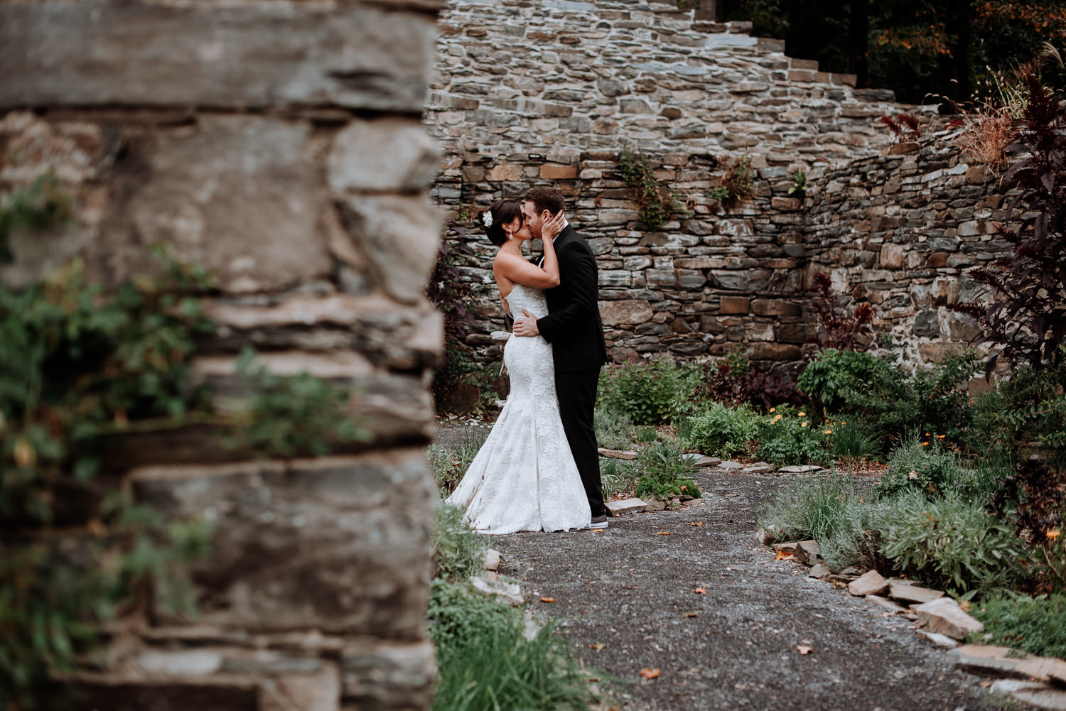 58354e850ced First Look at Red Maple Vineyard Wedding