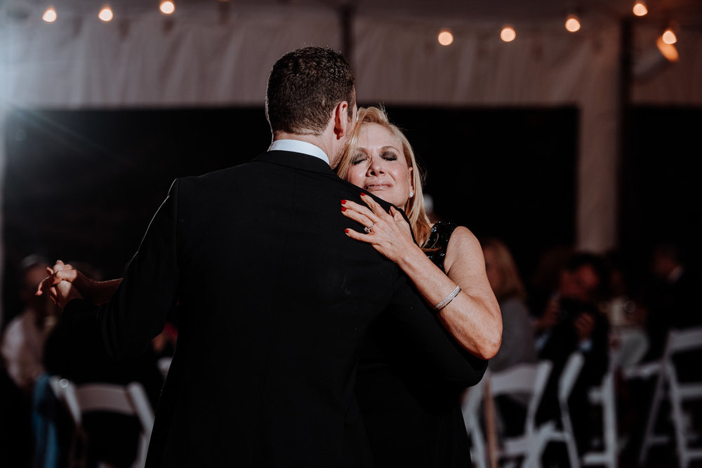 Red Maple Vineyard Wedding Parent Dance