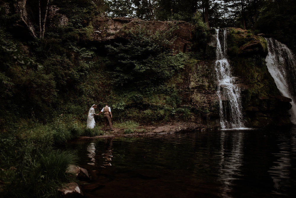 Catskill Wedding | Waterfall, forest, unicorns