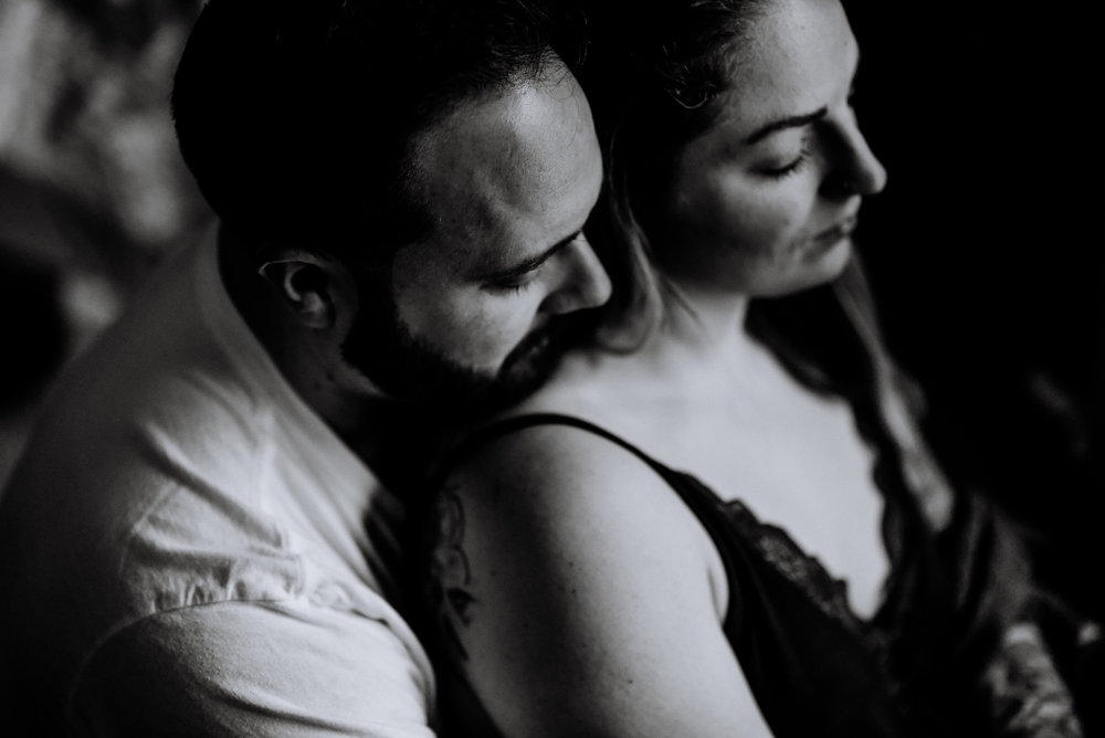 Hudson Valley Intimate couples engagement Session Indoors