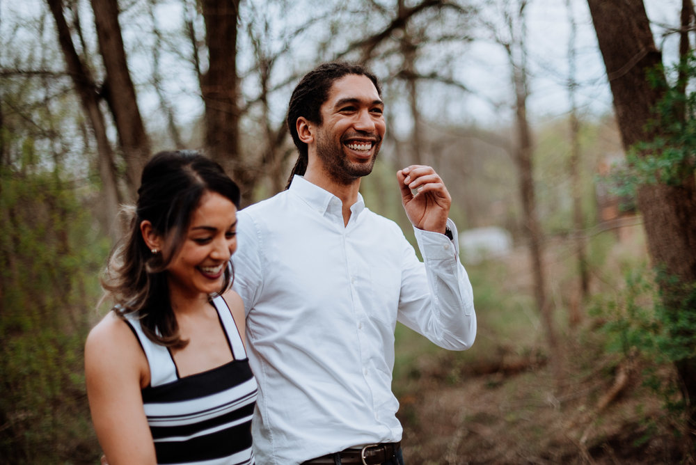 Hudson Valley Engagement session with apple blossoms, mountain v