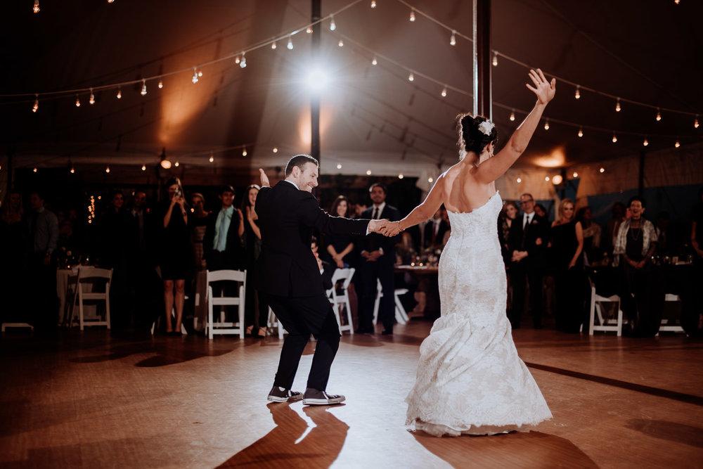 Red Maple Vineyard Wedding first dance