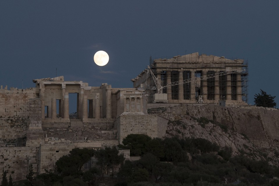 Supermoon over Athens