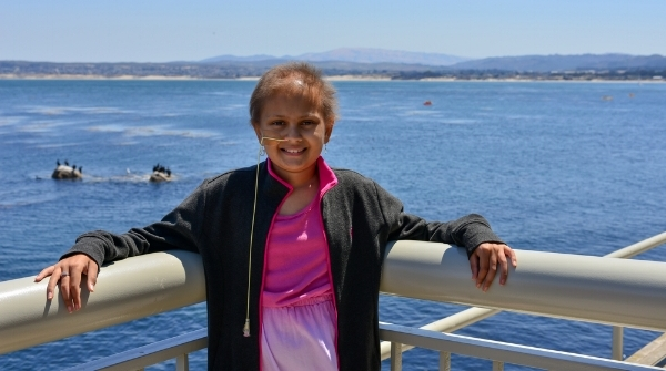 NAYA SUMMY AT AGE 11. NAYA WANTED TO BE A MARINE BIOLOGIST. THIS PHOTO WAS TAKEN IN MONTEREY, CA.