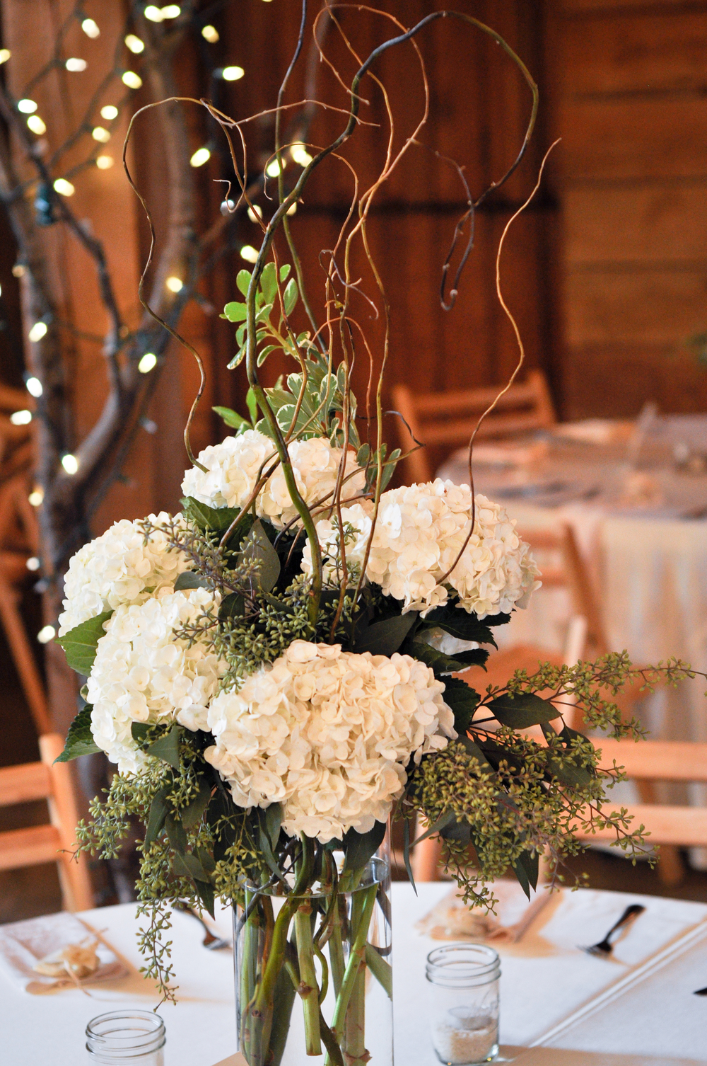 Rustic White, Pratt Place Inn & Barn, Bettencourt Chase Photography, Centerpiece