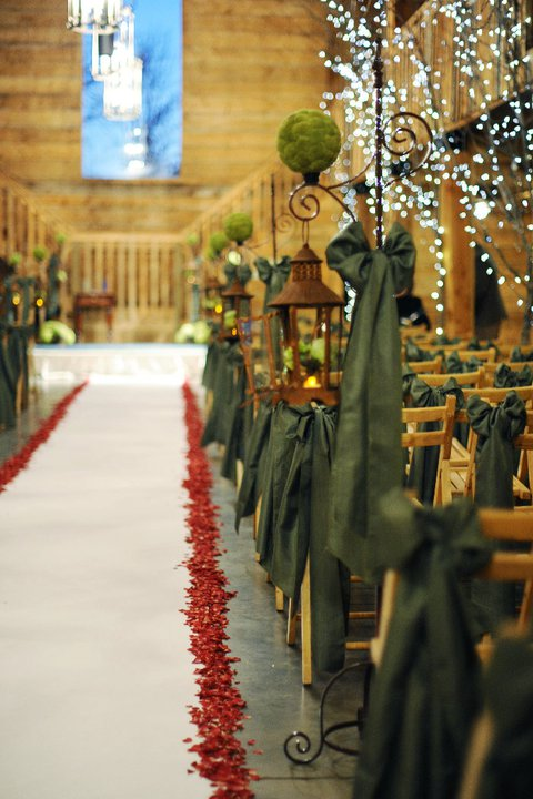Rustic Blue & Green, Pratt Place Inn & Barn, Rachel Blackwell Photography, Details Weddings & Events, Aisle Decor