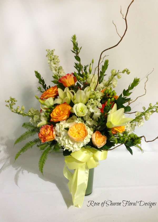 Spring Garden Arrangement, Rose of Sharon Floral Designs
