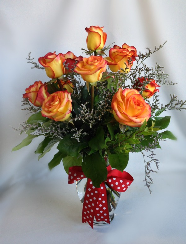 Dozen High and Magic Rose Arrangement, Rose of Sharon Floral Designs