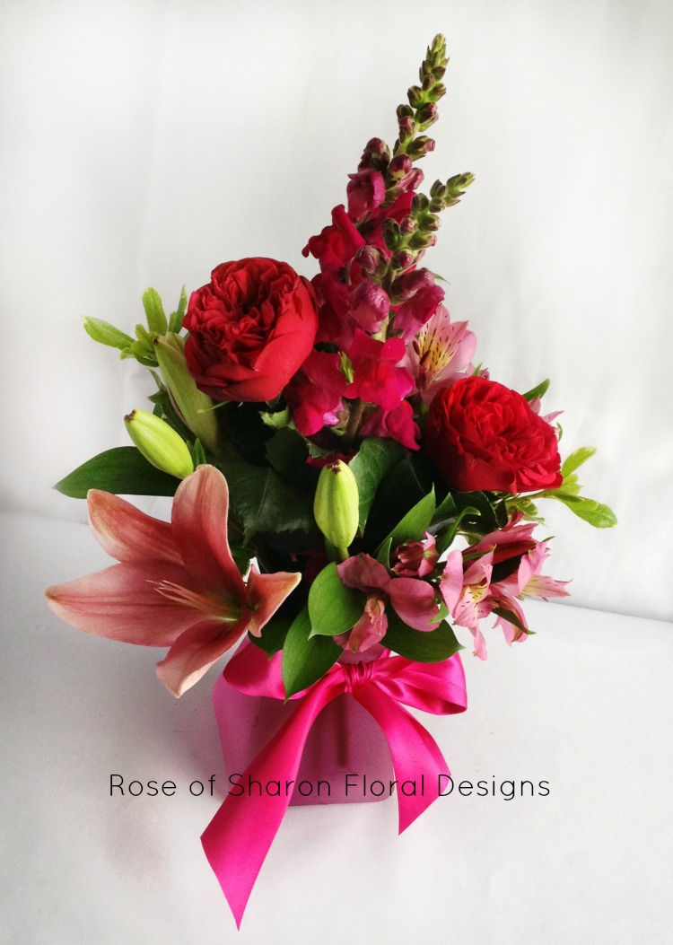 Garden Roses, Lilies and Stock, Rose of Sharon Floral Designs