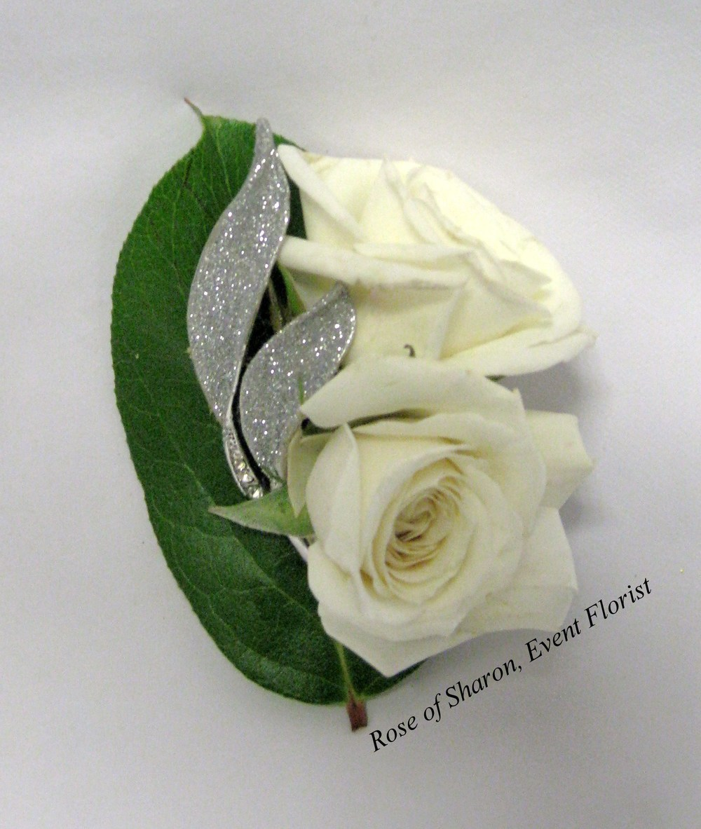 Clean Rose Boutonniere with Bling Accent, Rose of Sharon Floral Designs