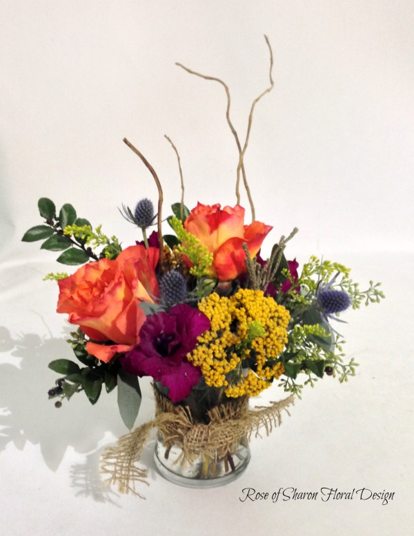 Free Spirit Roses, Eryngium and Alstromeria, Rose of Sharon Floral Designs