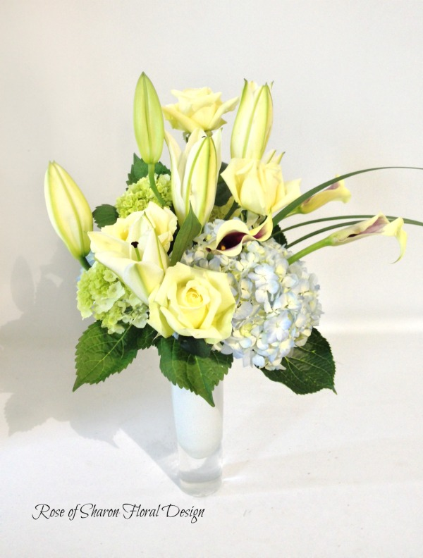 Hydrangeas, Roses and Lilies, Rose of Sharon Floral Designs