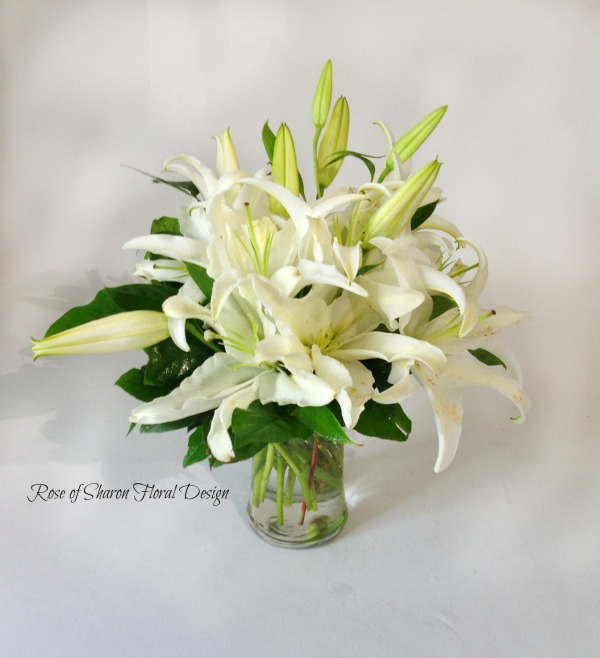 White Lilies, Rose of Sharon Floral Designs