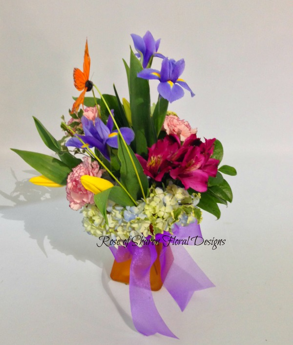 Irises, Alstroemeria, Tulips and Carnations, Rose of Sharon Floral Designs, Rose of Sharon Floral Designs