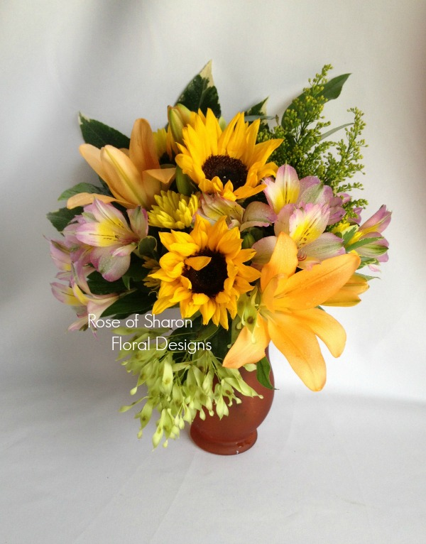 Sunflowers, Lilies and Alstroemeria, Rose of Sharon Floral Designs
