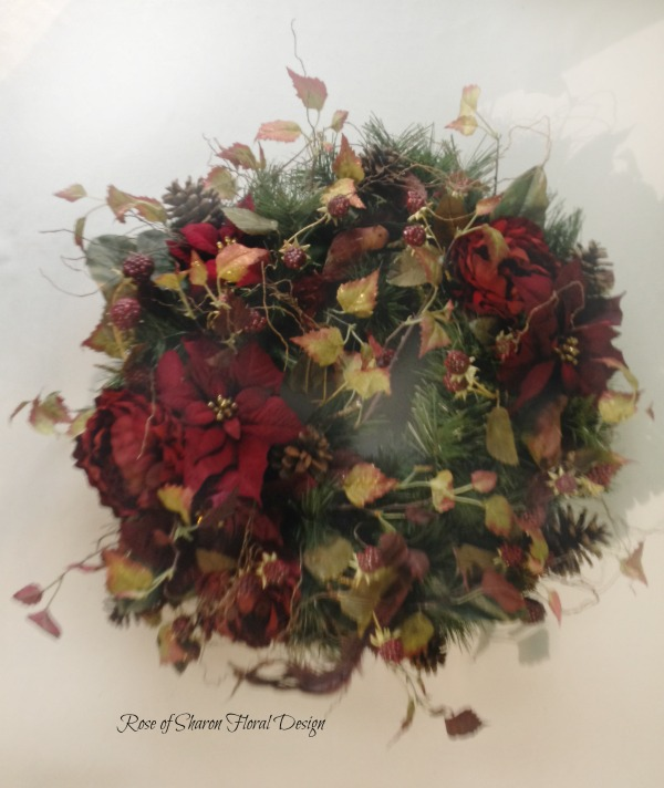 Silk Holiday Wreath, Rose of Sharon Floral Designs