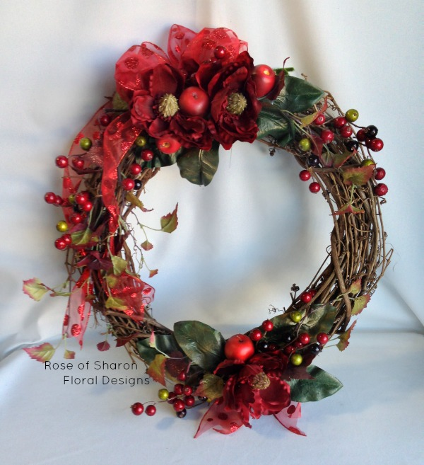 Berry Grape Vine Wreath, Rose of Sharon Floral Designs
