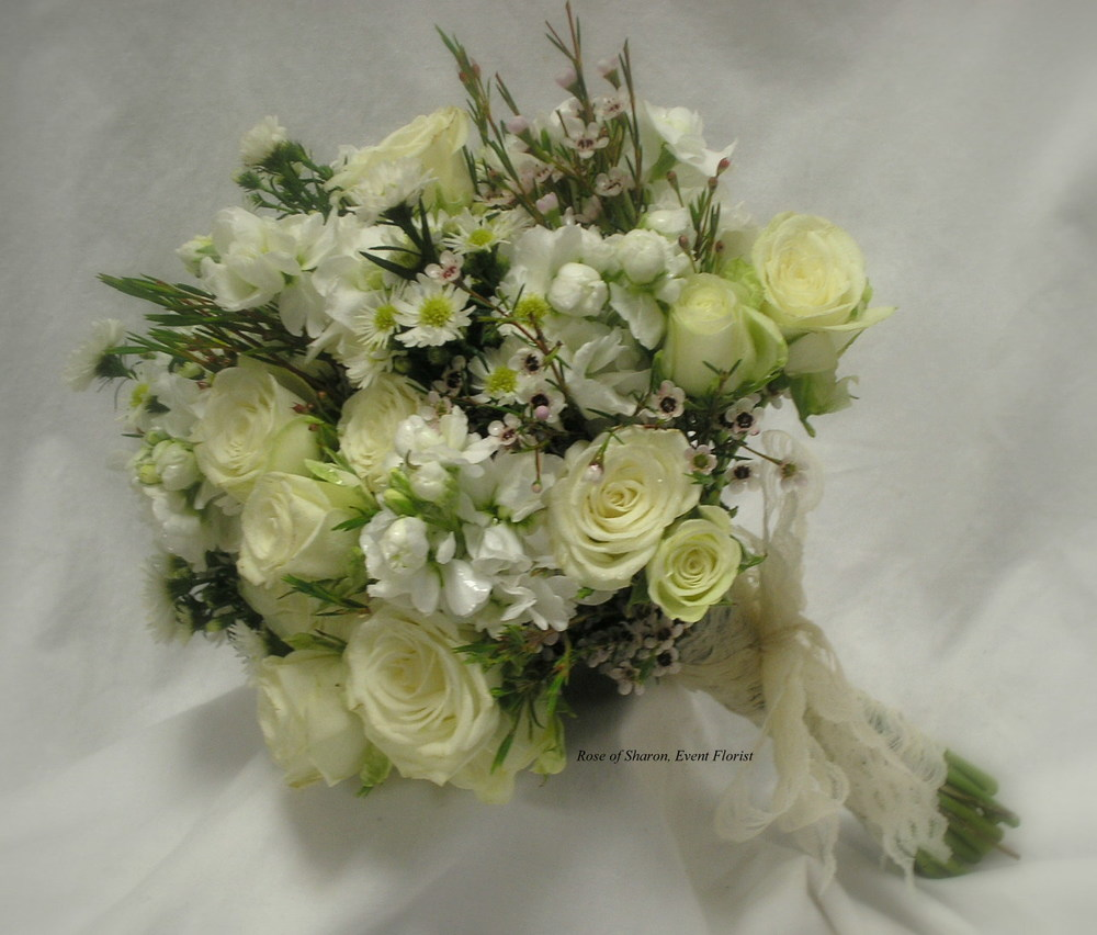 White Bouquets Rose Of Sharon Floral Designs