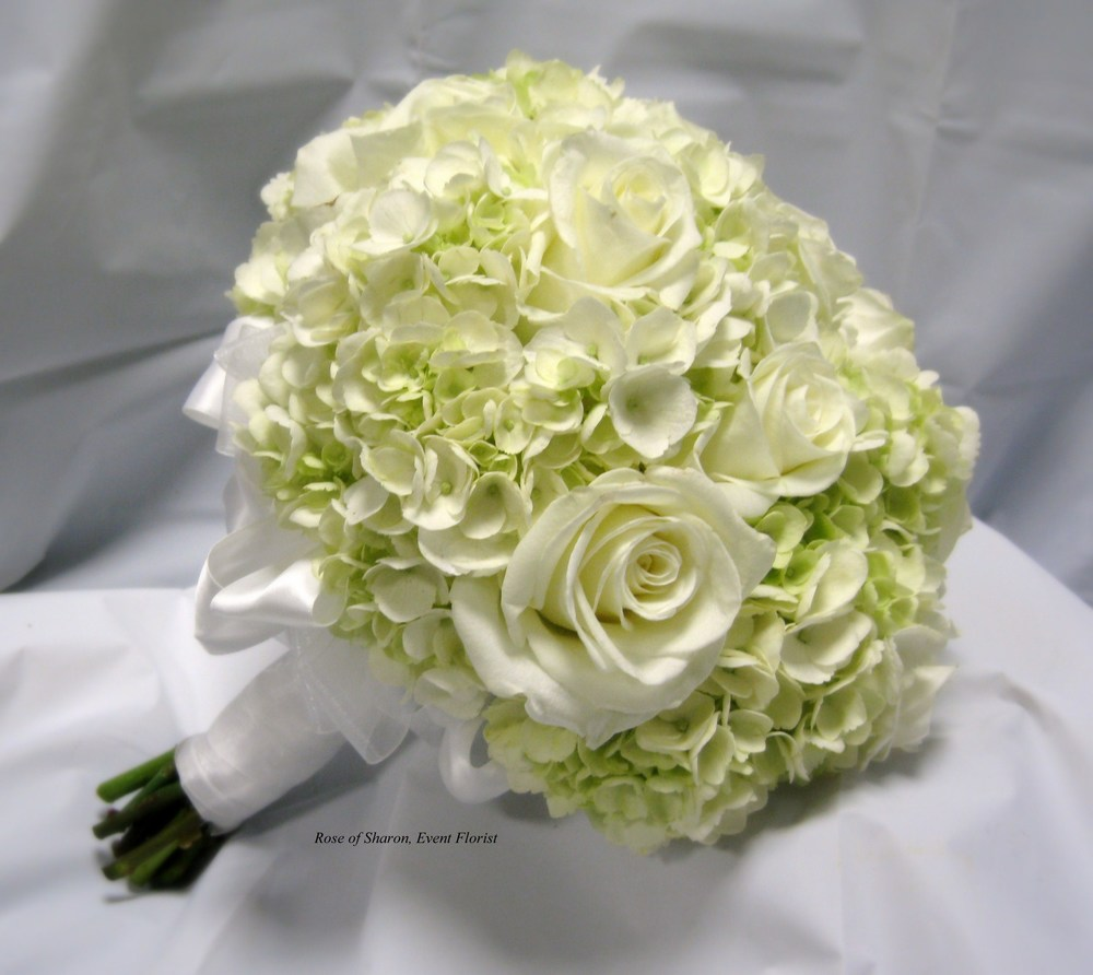 Hand-Tied Bouquet with Hydrangeas & Roses. Rose of Sharon Floral Designs