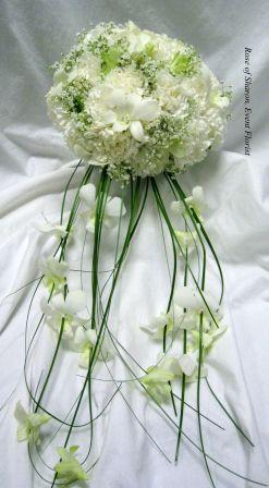 White Cascading Orchid Bouquet. Rose of Sharon Floral Designs