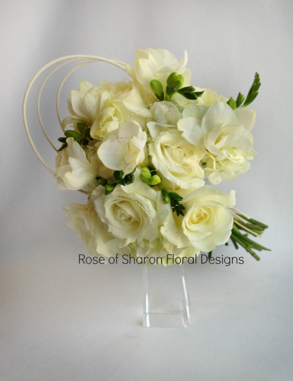 Hand-Tied Rose and Freesia Bouquet. Rose of Sharon Floral Designs