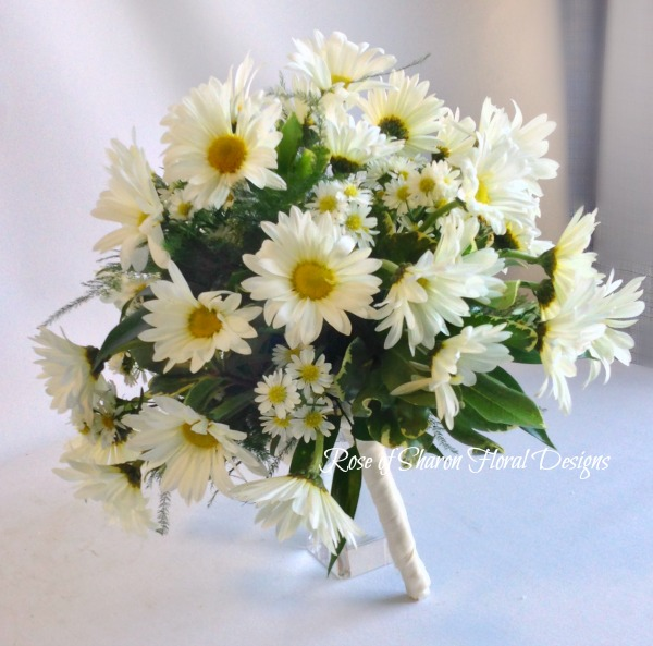 Hand-Tied Daisy and Monte Casino Bouquet. Rose of Sharon Floral Designs