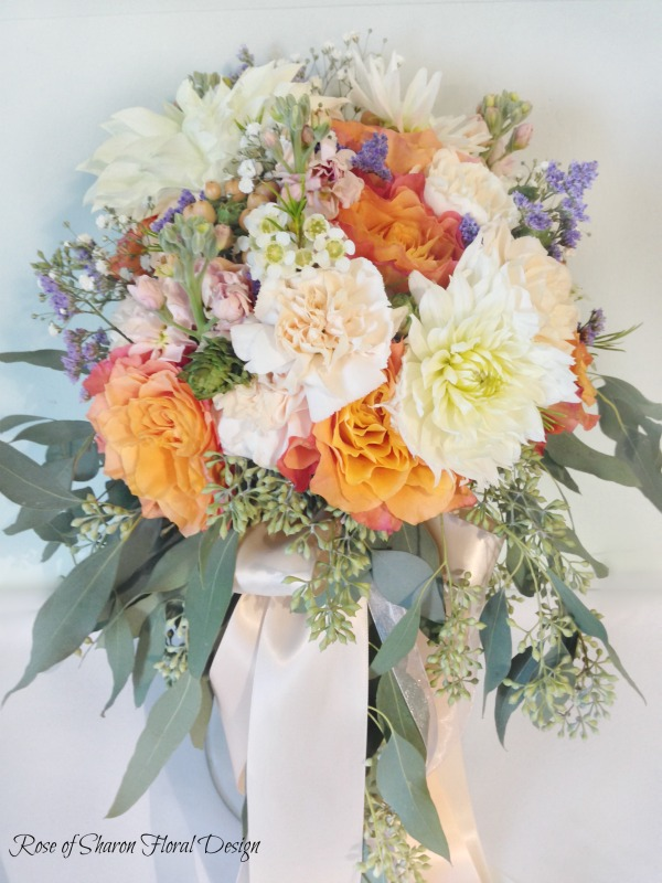 Cascading Garden Bouquet featuring Free Spirit Roses, Rose of Sharon Floral Designs