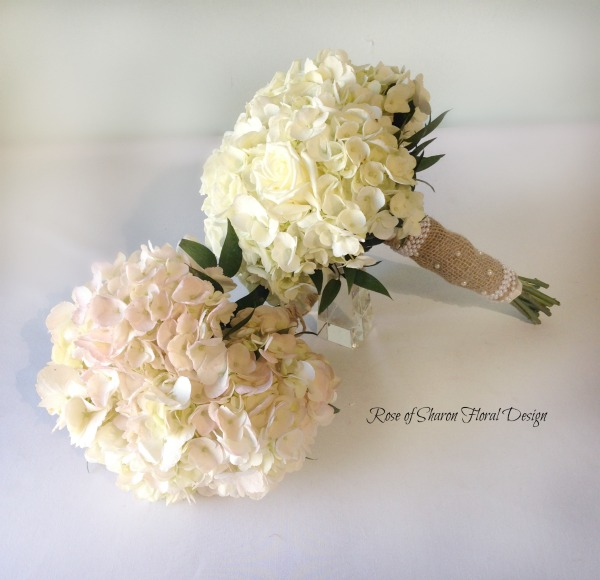 Hand Tied Hydrangea Bouquets, Rose of Sharon Floral Designs
