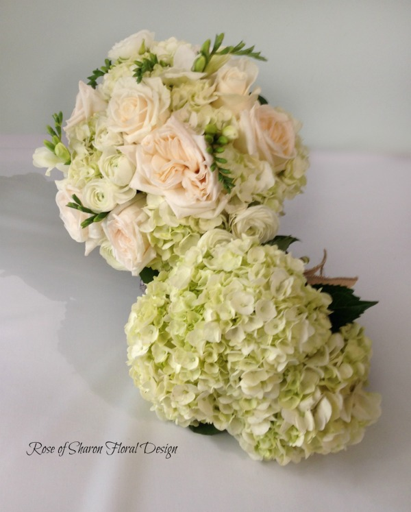 Hydrangea and Rose Bouquet with Hydrangea Bouquet, Rose of Sharon Floral Designs