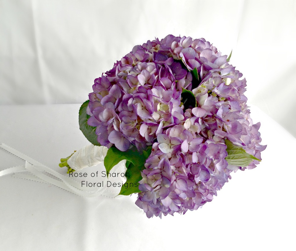 Hand Tied Purple Bouquet, Rose of Sharon Floral Designs