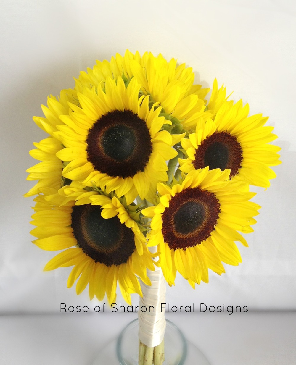 Sunflower bouquet. Rose of Sharon Floral Designs