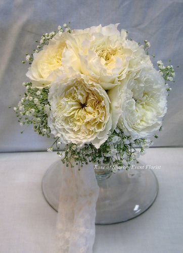Garden Rose Bouquet with Baby's Breath