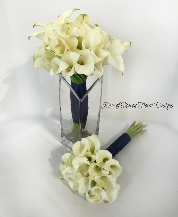 White Calla Lily Bouquets. Rose of Sharon Floral Designs