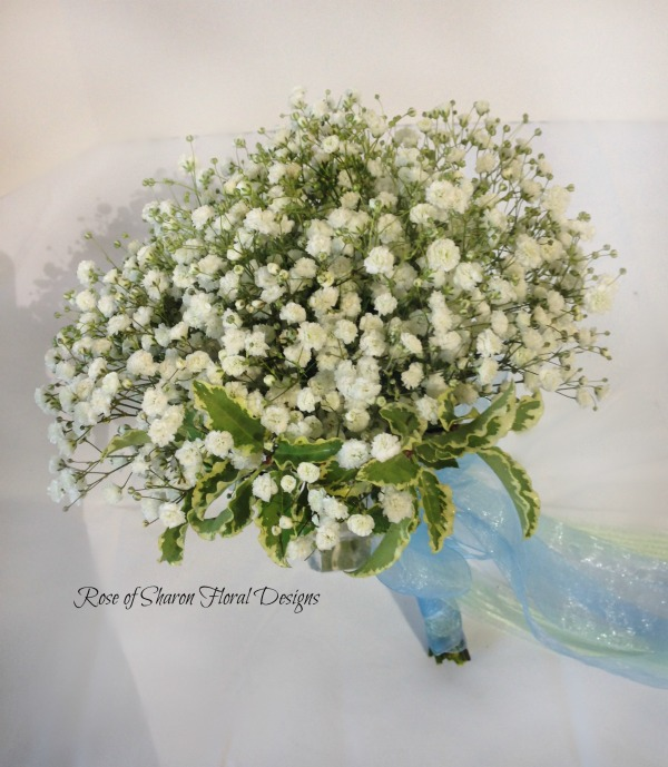 Baby's Breath Bouquet. Rose of Sharon Floral Designs