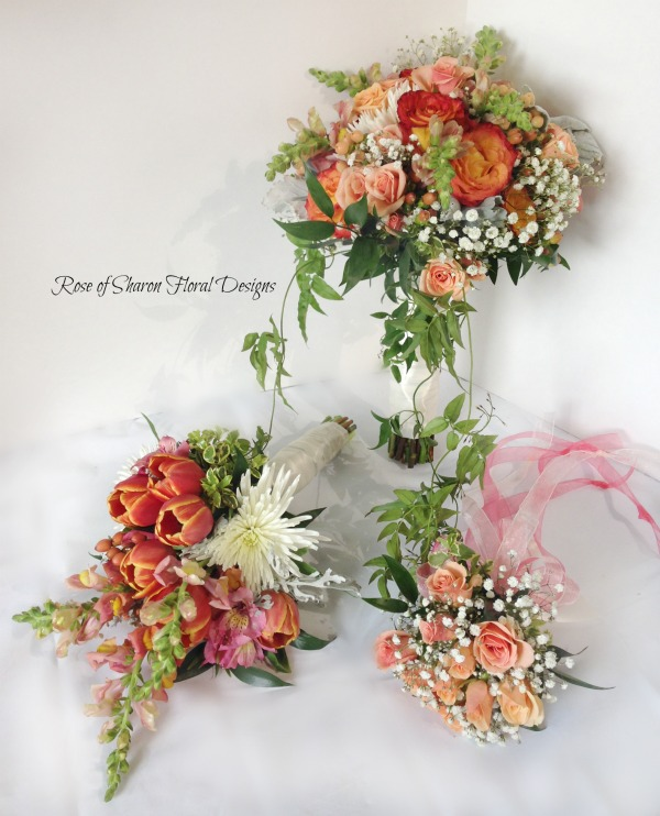 Garden Bouquets with Tulips, Roses and Snapdragons, Rose of Sharon Floral Designs