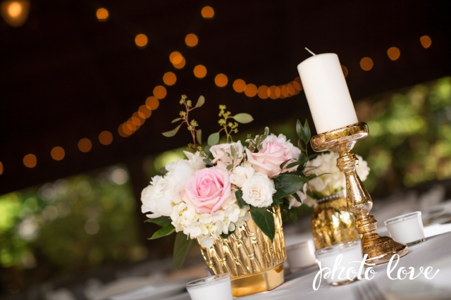 Blush & Gold tablescape