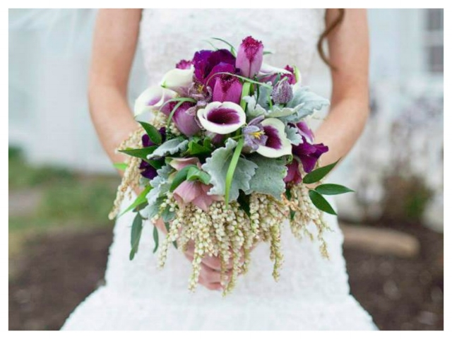 Plum & purple textured bouquet.