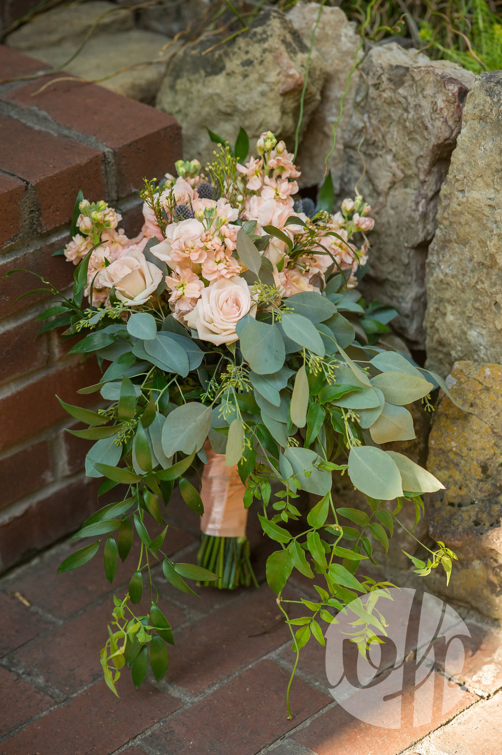 Peach and Greenery Bouquet