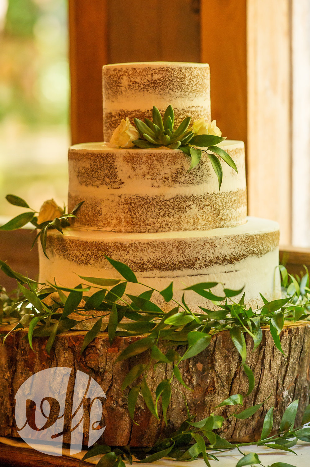 Semi Naked Cake with Greenery