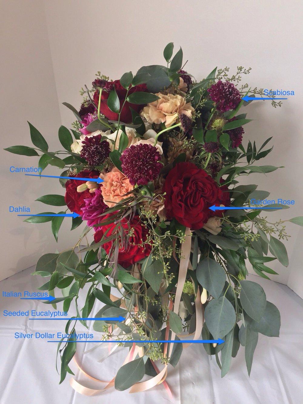 Bouquet-organic burgundy&peachbouquet