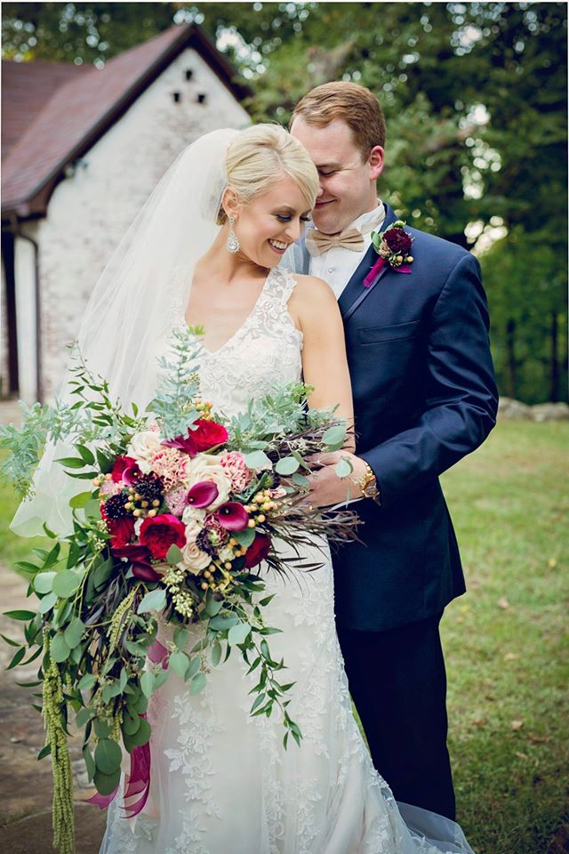 Stacy Gaugh Photography--organic burgundy bouquet