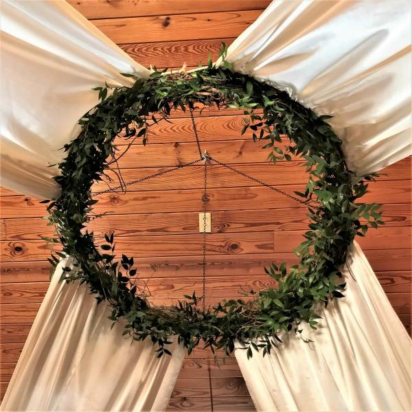 Full drape + wreath + foliage $355